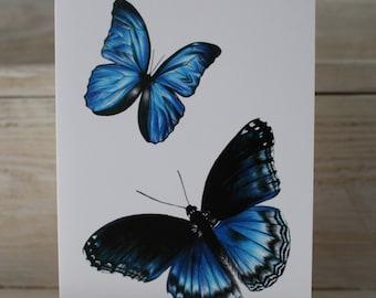 Blank Butterflies Greeting Card