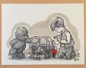 "Original, signed ""Wookiee the Chew"" drawing - ""I'll Most Likely Lose It Again, Anyway"" by James Hance"