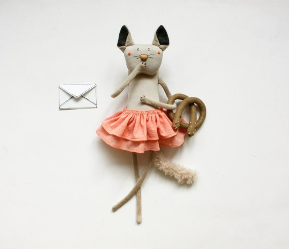 Unique Baby Toys : Stuffed cat plush toy in handmade for by