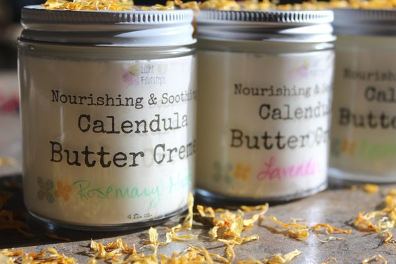 Calendula Butter Creme - All-Natural Herbal Creme for Face and Body made with Organic Ingredients