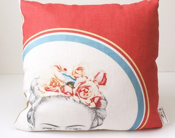 Frida Kahlo Pillow Cushion Cover, Pillow, Decorative Throw Pillow, Throw Pillow Cushion, Modern Pillow, Colorful Pillow