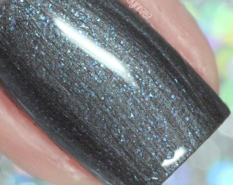 Color Changing Nail Polish - Vegan Nail Polish - Dark Blue - Purple - Wizards Collection - Turn on the Light  - Cruelty Free - Nail Art