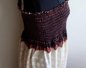 Shirred Top Spaghetti Strap Sun Dress
