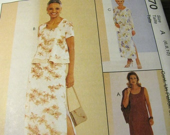 McCalls 2070 Lined Dress and Jacket Sewing Pattern Size 6, 8, 10 - Never Used - McCalls Sew News Two Piece Dress Pattern - Sewing Supplies