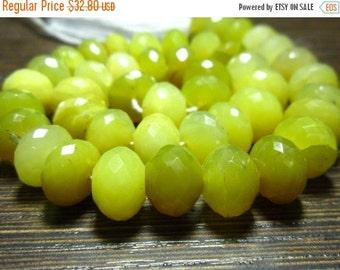 "BIG SALE Peruvian Honey Opal Faceted Big Rondelle- 7"" Strand -Stones measure- 6-10mm"