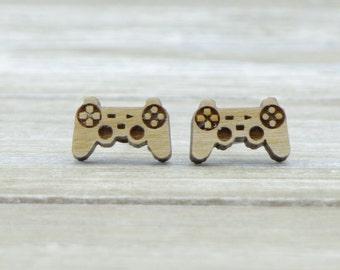 Playstation Controller Laser Cut Stud Earrings - Geeky gift - Lasercut earrings - Geek Chic - Gamer Girl - Australian Seller