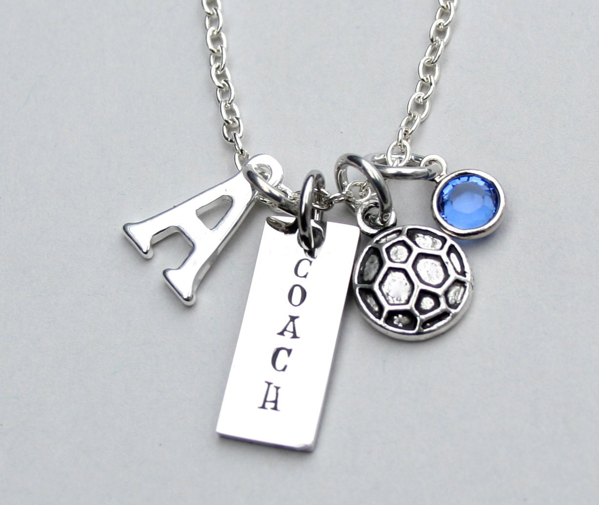 soccer coach necklace charm necklace personalize