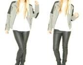 Leather jacket / black leather jacket / grey jacket / grey jean jacket / jean jacket / Coalition downtown