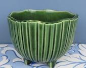 Vintage McCoy Pottery Bowl, Deep Green, Mid Century