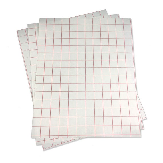 Red grid paper transfer tape sheet for craft by myvinyldirect for Plastic grid sheets crafts