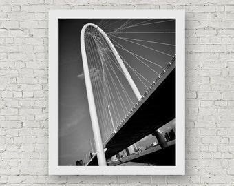Dallas Photography, Margaret Hunt Hill Bridge, Dallas Art, Dallas Photos, Dallas Prints, Texas Wall Art, Office Wall Decor, Dallas Wall Art