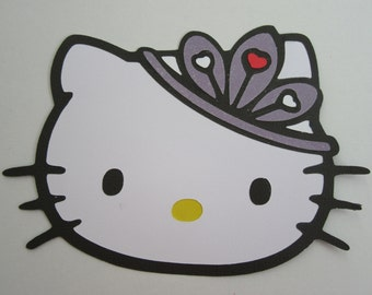 HELLO KITTY with Tiara Paper Die Cut