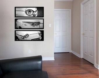 Panhard classic car black and white photography/large wall art/garage art decor/car decor/car print/car poster/personalized art home decor