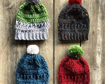 Slouchy Hat Crochet Pattern - Crochet Pattern for Hat - Womens Crochet Hat Pattern - Crochet Pattern for Slouchy Beanie Hat