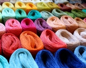66 colors LINEN yarn palette - 66 tiny balls  for sewing, macrame, crochet