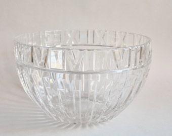 Vintage Large Crystal Bowl by Tiffany Atlas Design & Original Tiffany Box