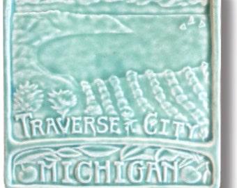 Traverse City Michigan 6x6 tile