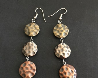Mixed metal color earrings