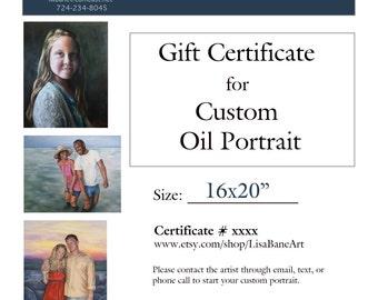 Gift Certificate for Custom Oil Painting