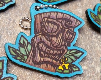 Wasteland Oddities Hand Painted Leather Tiki Tags!