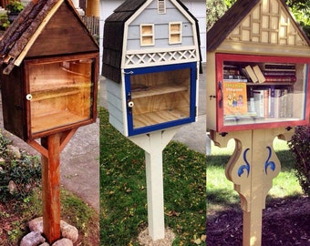 Little Free Library (custom-made using reclaimed materials!)