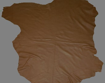 Glacier Wear Elk Leather Buckskin Hide Milk Chocolate