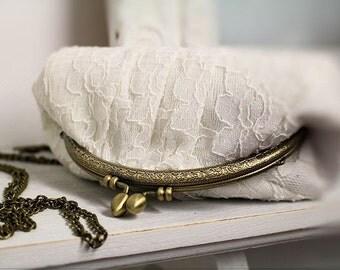 Evening bag | wedding | cream lace