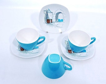 Vintage Midwinter StyleCraft 'Cannes' by Hugh Casson - Cups & Saucers