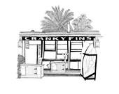 A4 Cranky Fins print / The Palm Beach Series