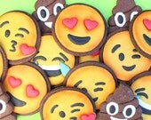 Emoji cookie cutters by Montreal Confections.