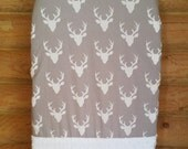 Ready to Ship, Changing Pad Cover, Woodland, Grey, Gray, White, Minky, Diaper, Baby Shower Gift, Newborn, Girl, Boy, Gender Neutral, Deer