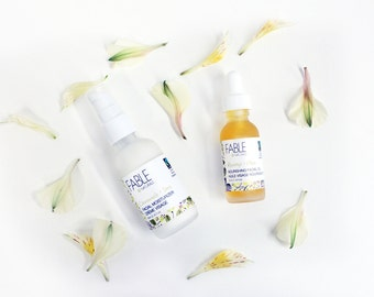 Skin care set - Facial moisturizer - Organic rosehip oil - Eco beauty - Vegan