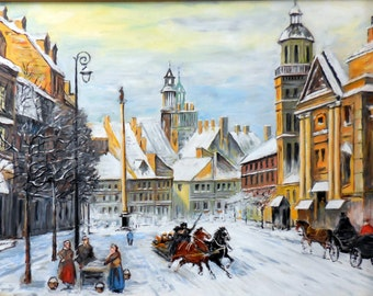 "Replica of Chmielinski's ""Winter in Warsaw"""