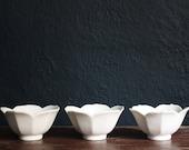 HOLD FOR MEGAN: White Lotus Bowls (3)