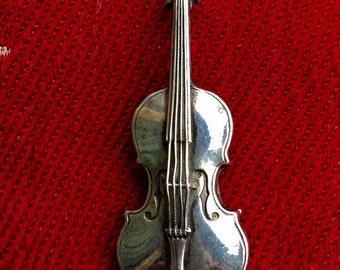 French Vintage Violin Brooch