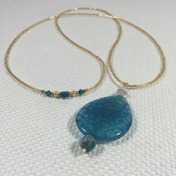 Large Pendant Necklace - Statement Necklace - Holly Avenue Designs