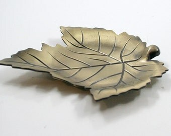 Brass Leaf Trinket Dish