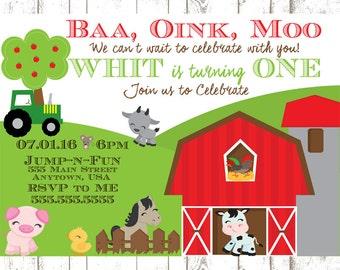 Baa Oink Moo invite