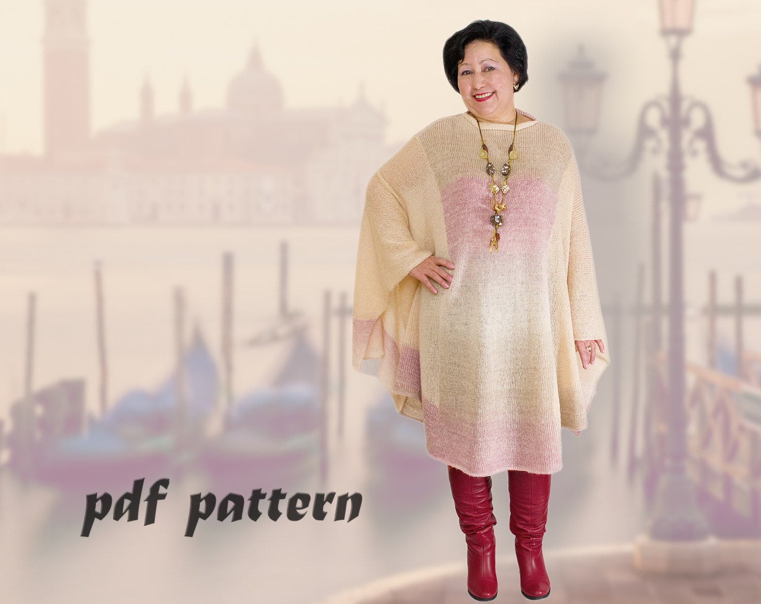 Oversize warm poncho pattern plus size poncho knitted poncho zoom bankloansurffo Gallery