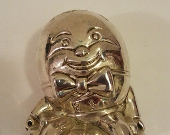 Silver Colored Humpty Dumpty Coin Bank