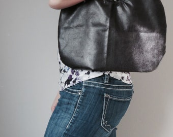 Faux Leather Hobo Bag, Pleather Shoulder Bag