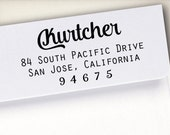 Self-Inking Address Stamp, Return Address Stamp, Wood Mounted Address Stamp, Envelope Stamp, Wedding Personalized Stamp, Custom Stamp (S4)