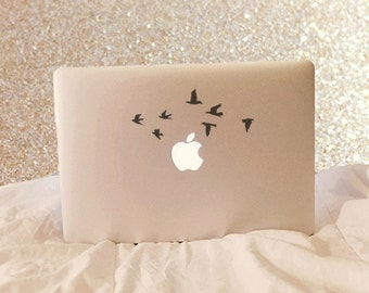 Flying Birds Vinyl Decal - Laptop Decal - Macbook Decal - Car Decal - iPad Decal - Macbook Sticker - Laptop Sticker