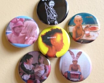 "Gummo pin back buttons 1.25"" set of 6"