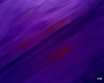 Purple arylic painting original abstract acrylic painting purple abstract home decor 16 x 12 inch