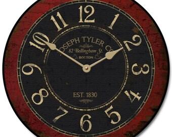 Bellingham Red Wall Clock