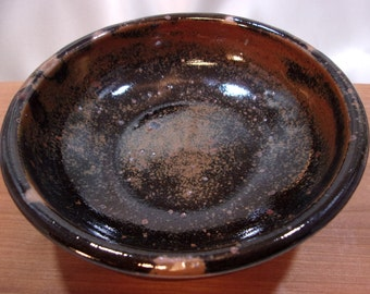 Tenmoku Stoneware Pottery Bowl