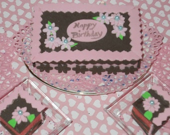 American girl doll Pink and Brown Daisy sheet cakes by Grandma B