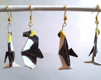Origami Penguin Earrings