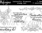 Butterfly Elements Digital Stamp Set